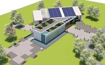 Projeto da casa modelo construções sustentáveis na Cidade Universitária da UFRJ