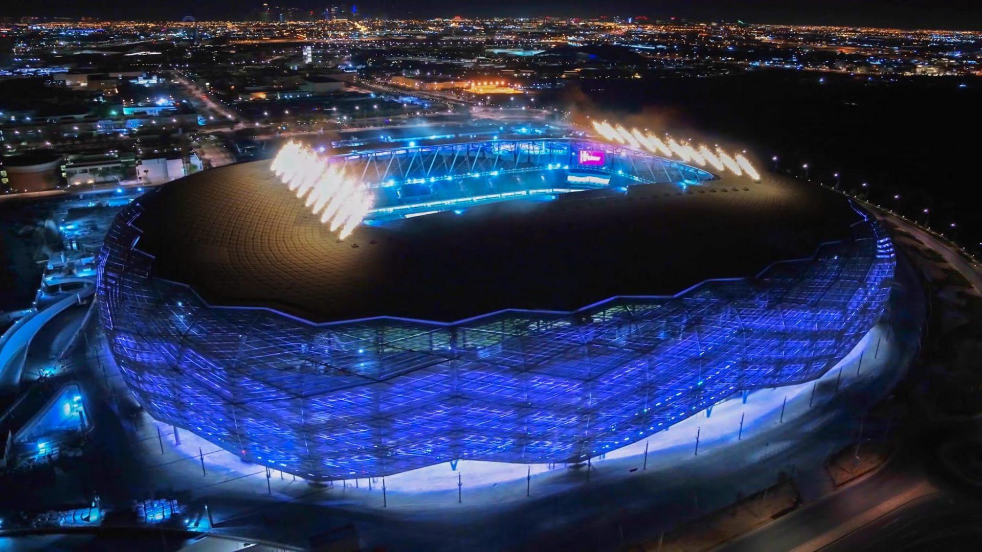 Vista aérea do Education City Stadium