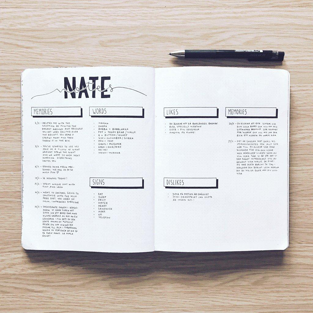 exemplo de bullet journal