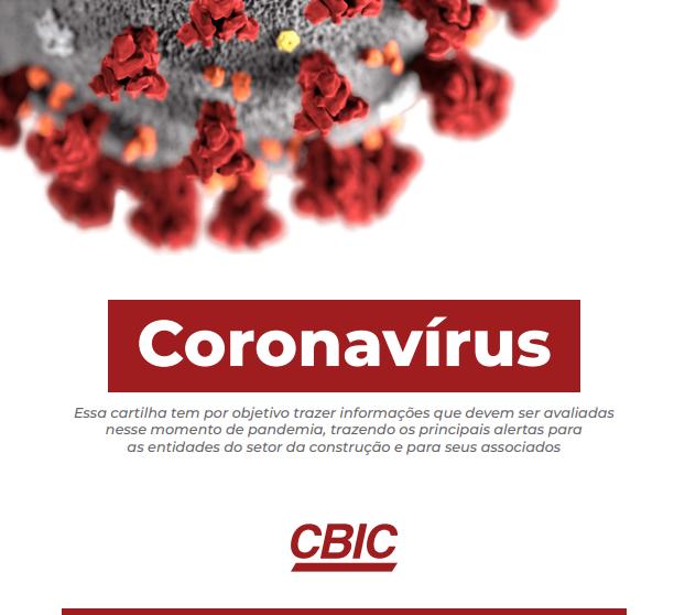 Capa da cartilha de boas práticas contra o coronavírus em obras elaborada pela CBIC.