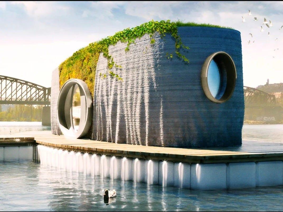 Casa flutuante pode ser construída em 48 horas usando impressão 3D