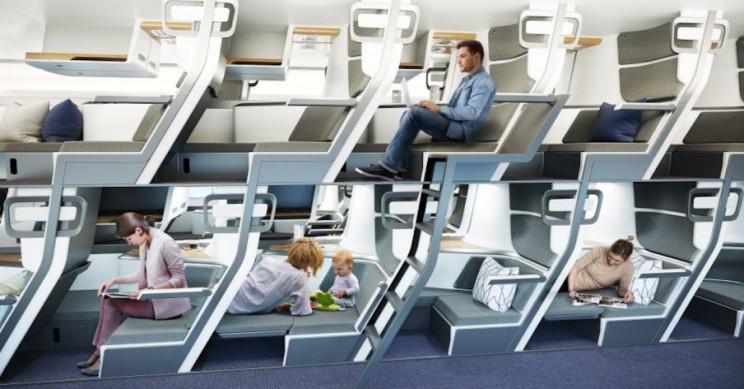 aviões assento double decker