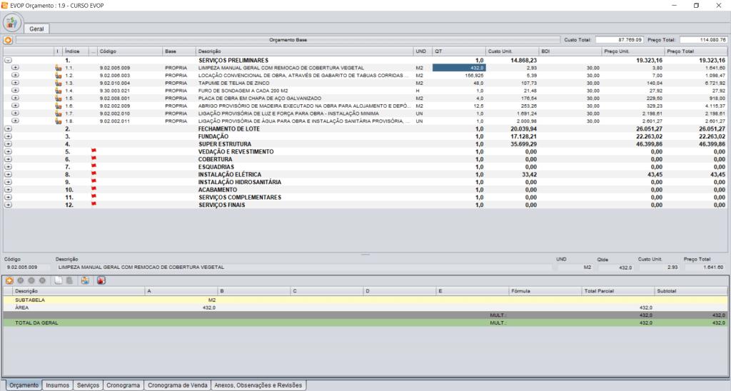 Imagem ilustrativa do sistema ERP Evop.