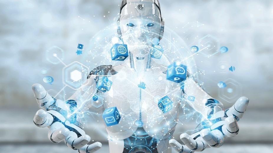 robô representando inteligência artificial (IA)