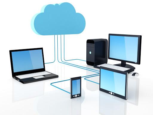 Representação gráfica de dispositivos interligados por servidor.