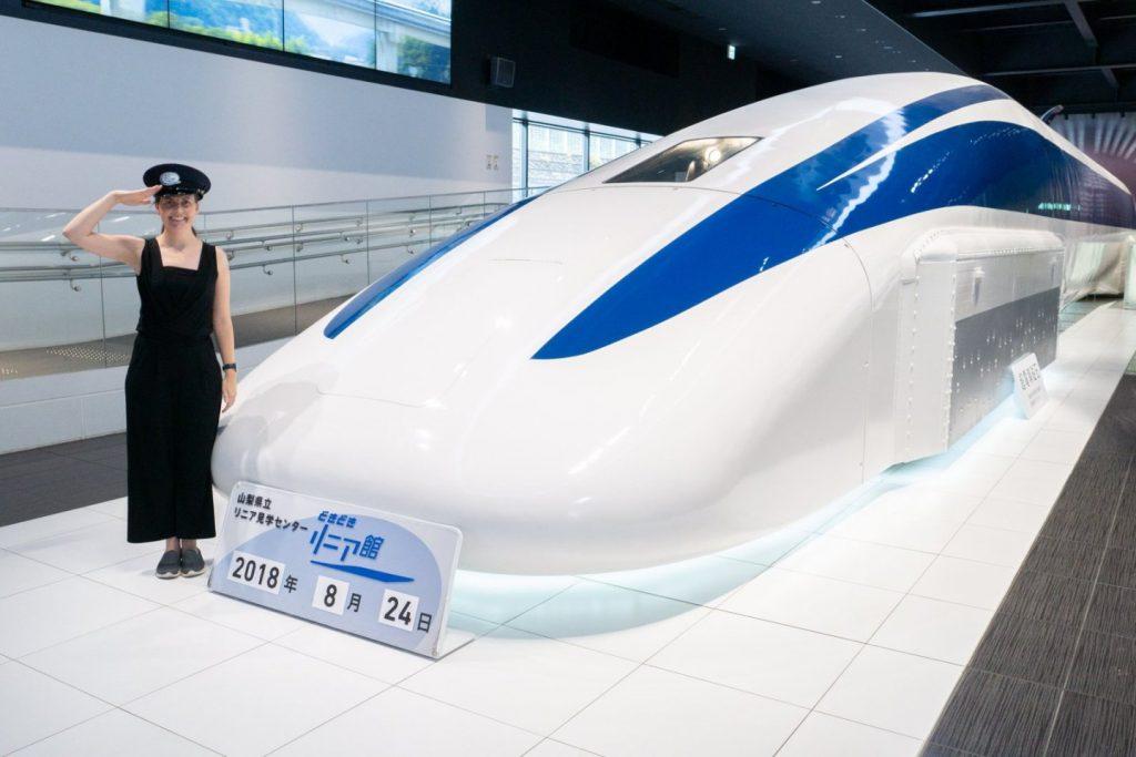 Trem que utiliza tecnologia Maglev.