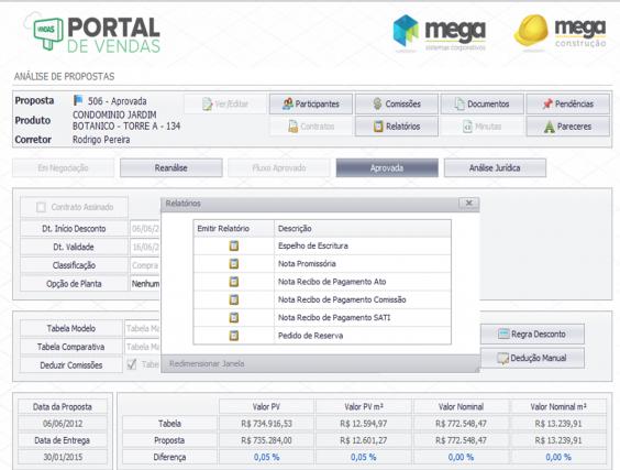 Imagem ilustrativa do sistema ERP Mega Construção.
