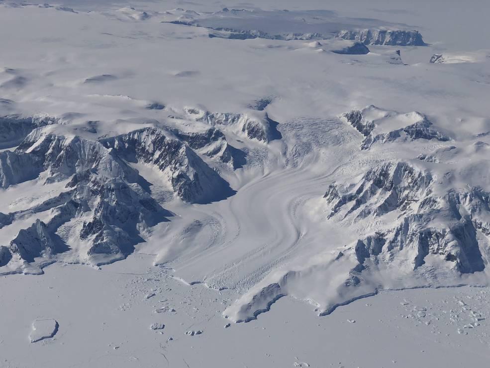 Gelo na Península Antártica