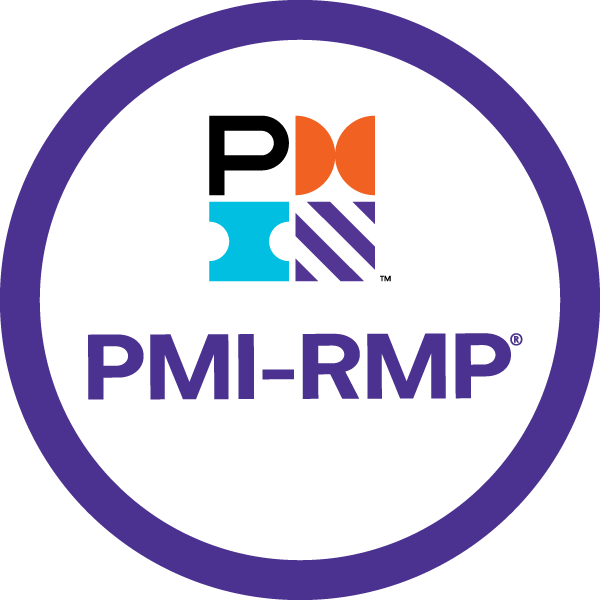 Selo da certificação PMI-RMP