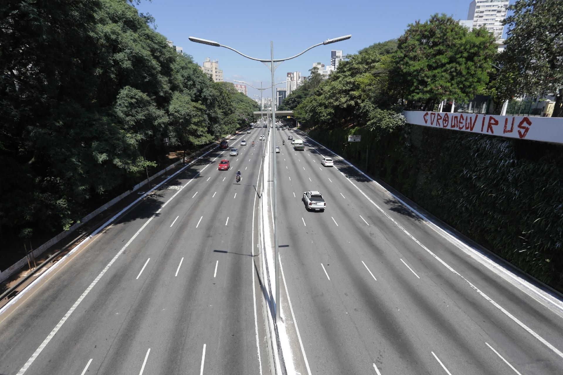reducao da poluição do ar em são paulo quarentena imagem de rodovia de são paulo
