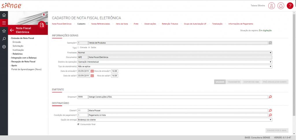 Imagem ilustrativa do sistema ERP Sienge