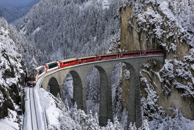 Imagem do trem Bernina.