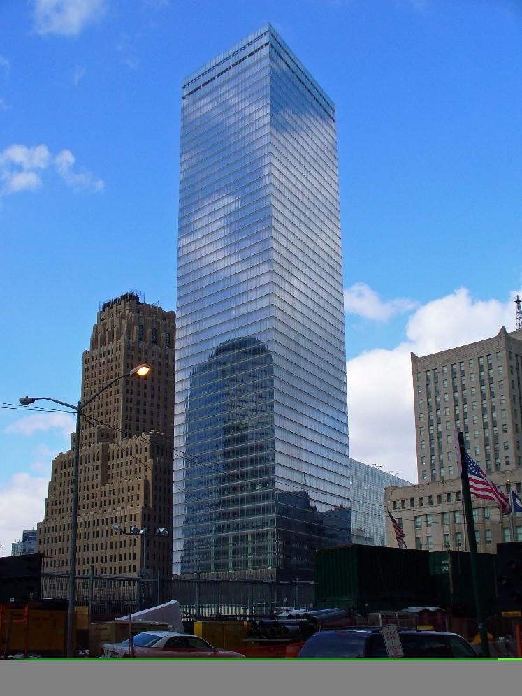 Imagem da área externa do 7WTC
