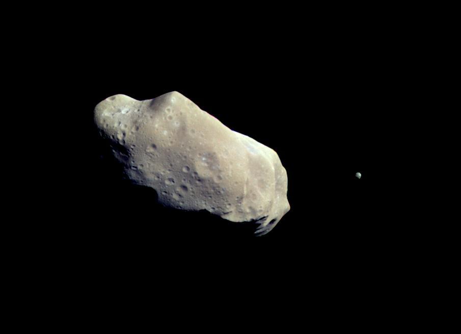 Exemplo de asteroide. Asteroide 243 Ida em Agosto de 1993