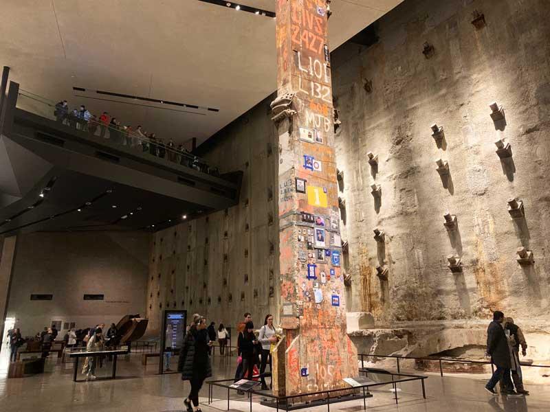 Área interna do Museu Nacional do 11 de setembro