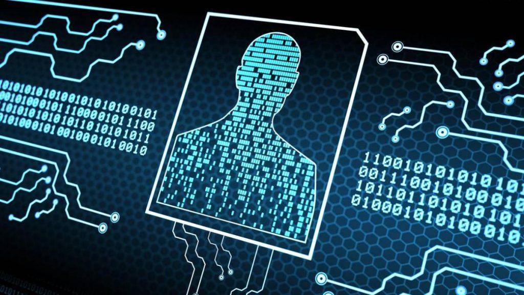 Representação de uma cadastro de dados pessoais através de linhas de código de programação.