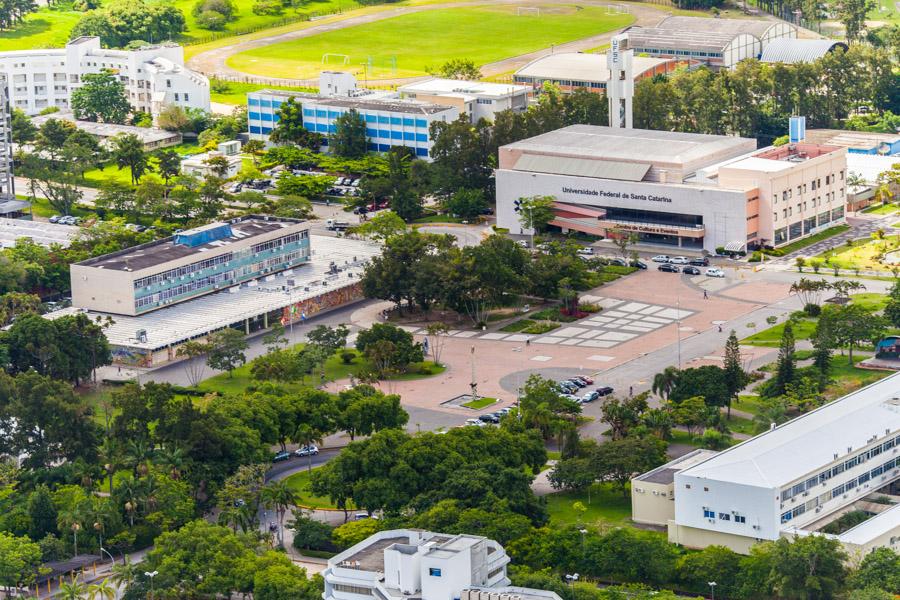 Visão áerea do campus da UFSC