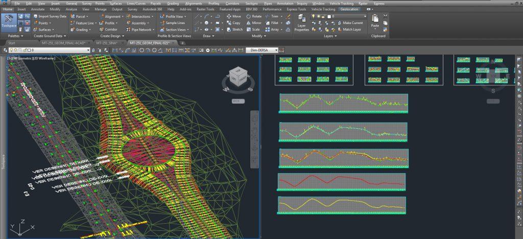 tela do software AutoCAD Civil 3D