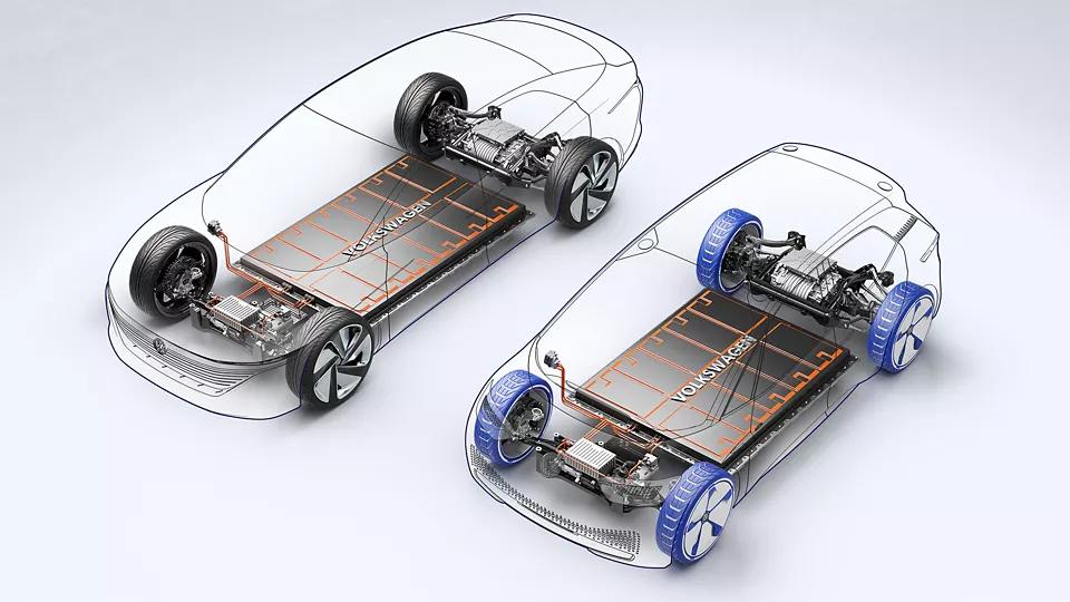 A imagem apresenta dois modelos de plataformas. A primeira tem uma bateria maior em relação a segunda
