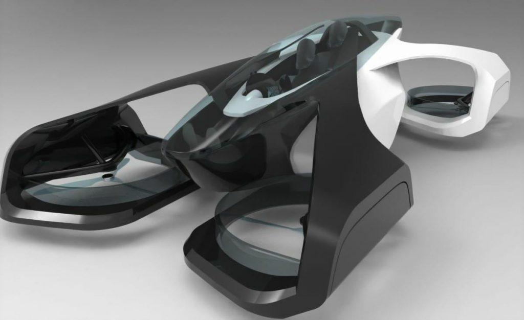 imagem ilustrativa do SkyDrive Inc, um dos carros voadores da empresa