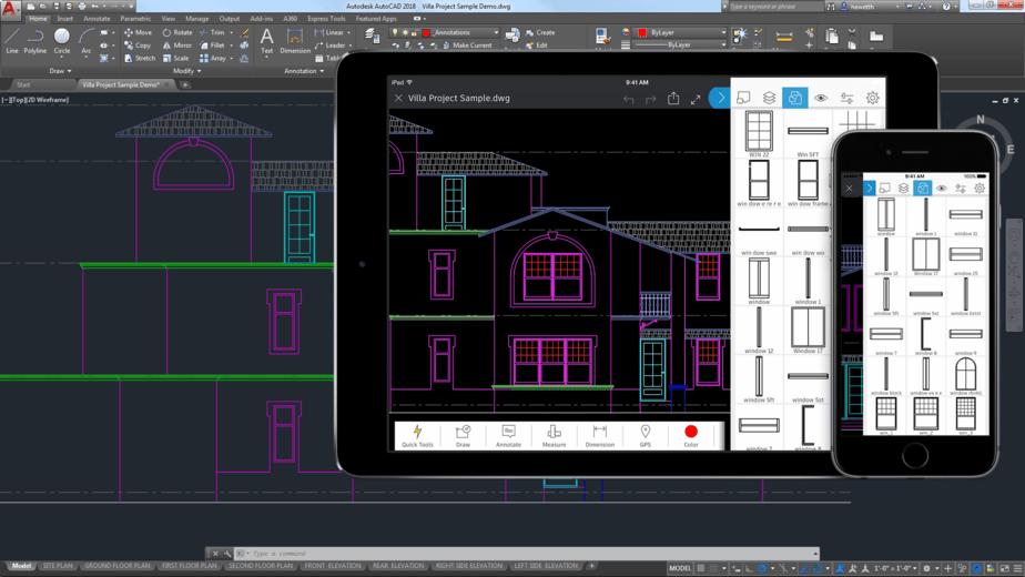 imagem ilustratica de tela do autocad autodesk com aplicativos