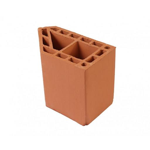 imagem ilustrativa de bloco de cerâmica chanfrado 45 graus
