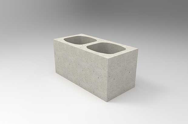 imagem ilustrativa de bloco de concreto estrutural