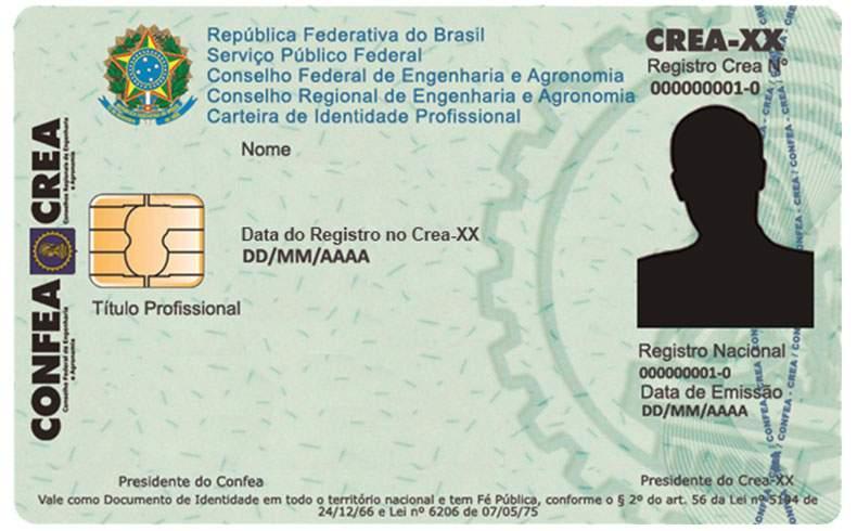 imagem de carteira de genérica de registro de crea para representar registro de profissionais da engenharia elétrica