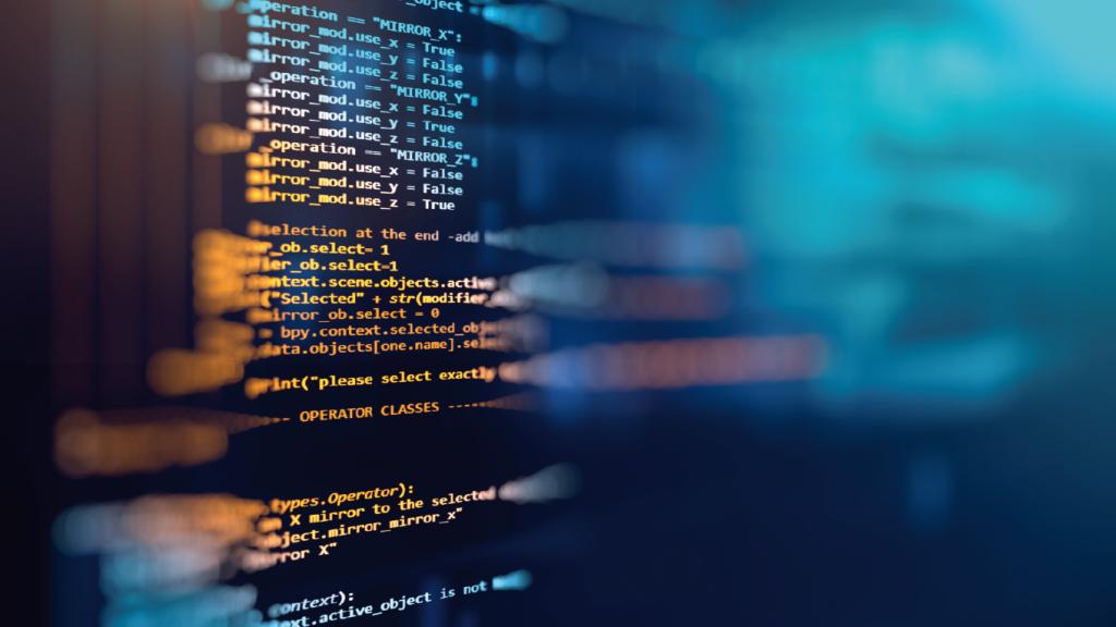 Tela com dados de programação de computadores