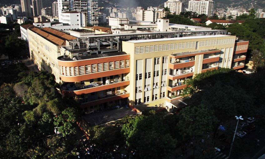 vista aérea do hospital universitário da UFJR