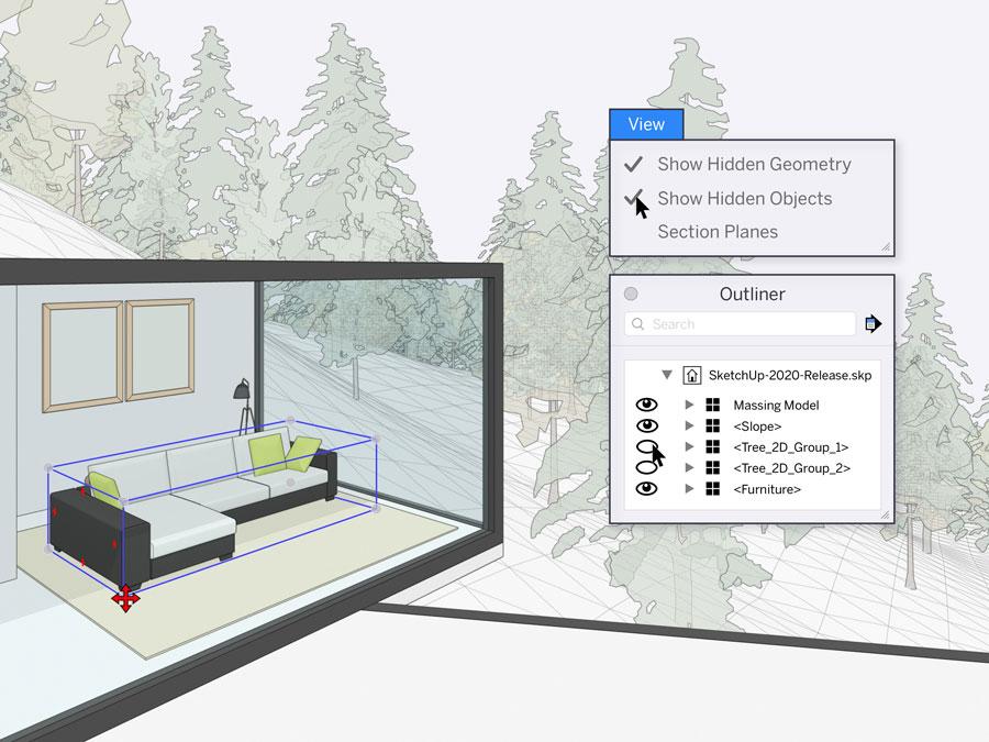 sketchup softwares de engenharia imagem ilustrativa de edição no programa