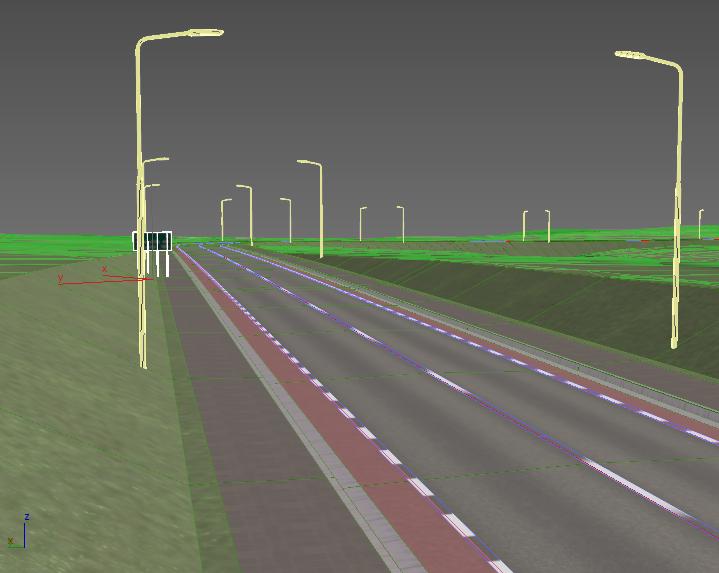 imagem de estrada feita com SAP2000, software para engenharia
