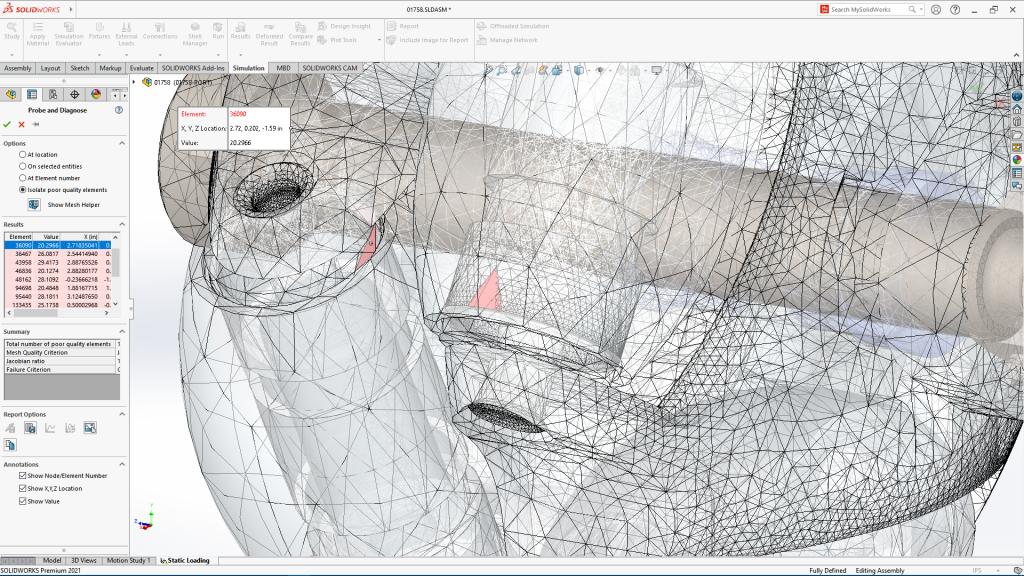 imagem desenvolvimento de peça com o solidworks 2021