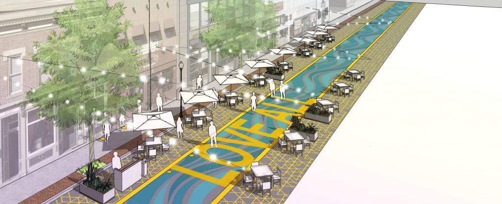Simulação de um estacionamento na cidade pós pandemia