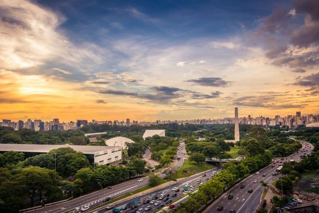 Vista aérea Parque Ibirapuera