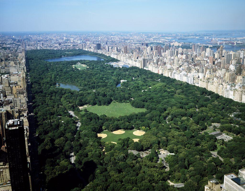 Vista superior do Central Park