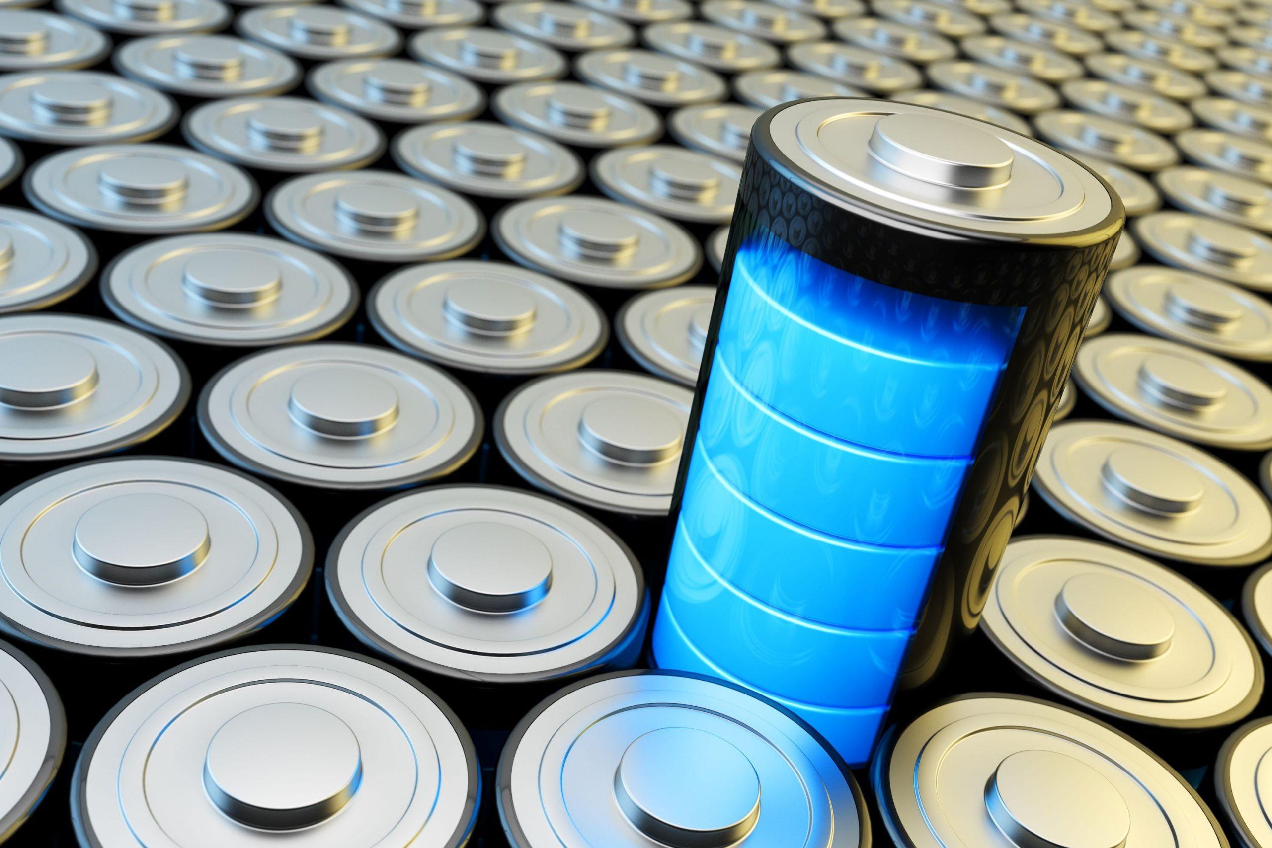 imagem ilustrativa de bateria no meio de outras