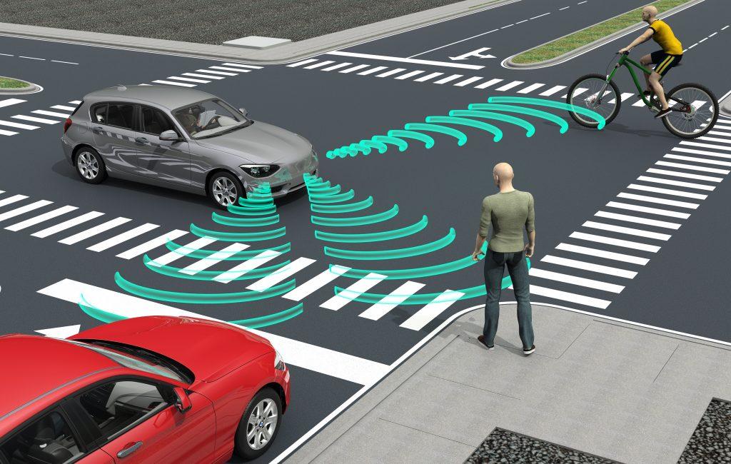 carros autônomos andando em via, imagem ilustrativa