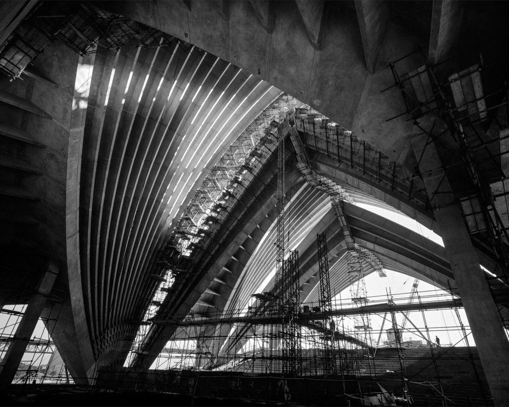 Imagem da Construção do Sydney Opera House