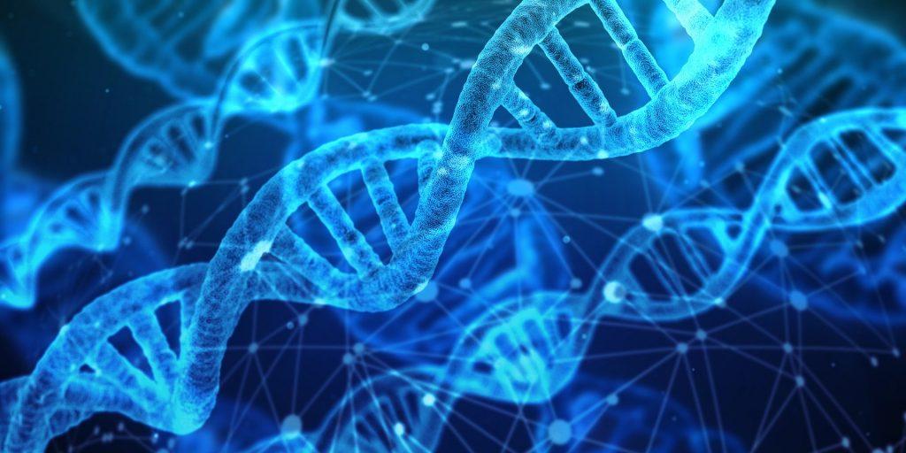 imagem genérica de DNA representando genes