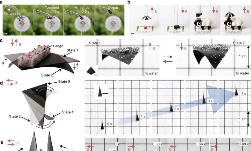 imagem de como robô macio é usado para capturar mosca em movimento
