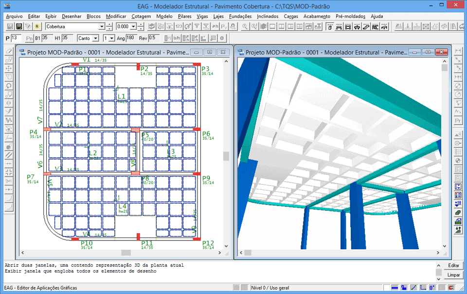 imagem ilustrativa de software TQS aberto em computador