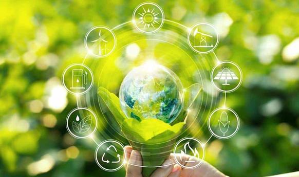 imagem ilustrando engenharia e terceiro setor, com fundo verde e sustentabilidade