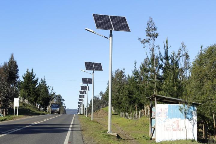 Poste de luz com energia solar