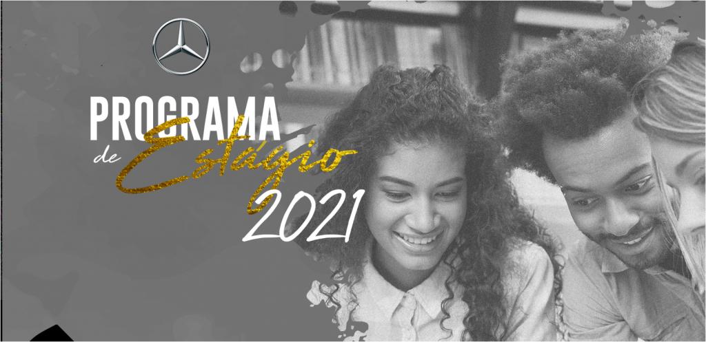 Banner do programa de estágio de 2021 da Mercedes-Benz