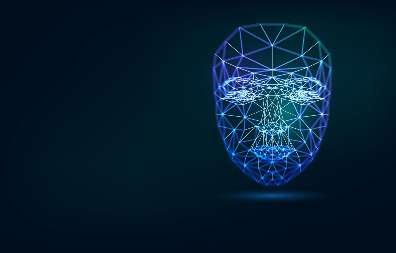 reconhecimento facial imagem ilustrativa de rosto digital mapeado