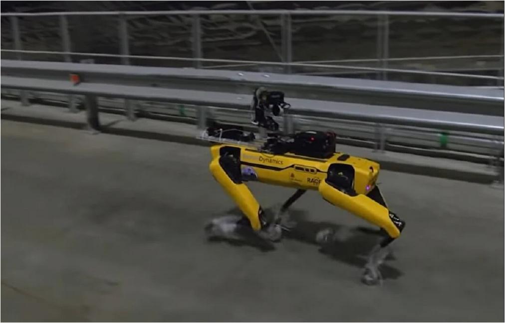 Spot cão robô em Chernobyl