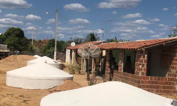 Cisterna construída no Rio Grande do Sul