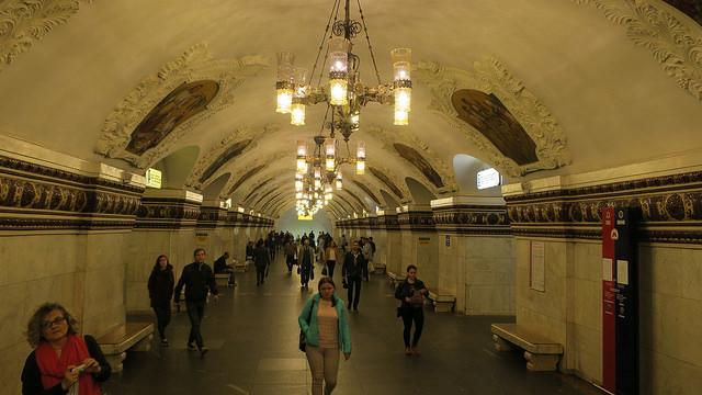 Estação Arbatskaya, Moscou.
