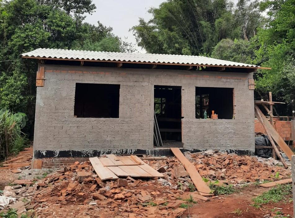 imagem de casa em construção ilustrando estágio em engenharia